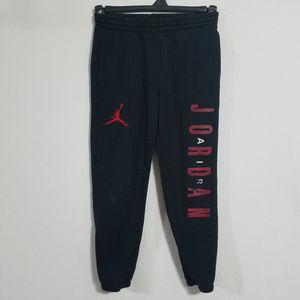 Jordan Boys Medium Joggers Black Sweatpants Pants